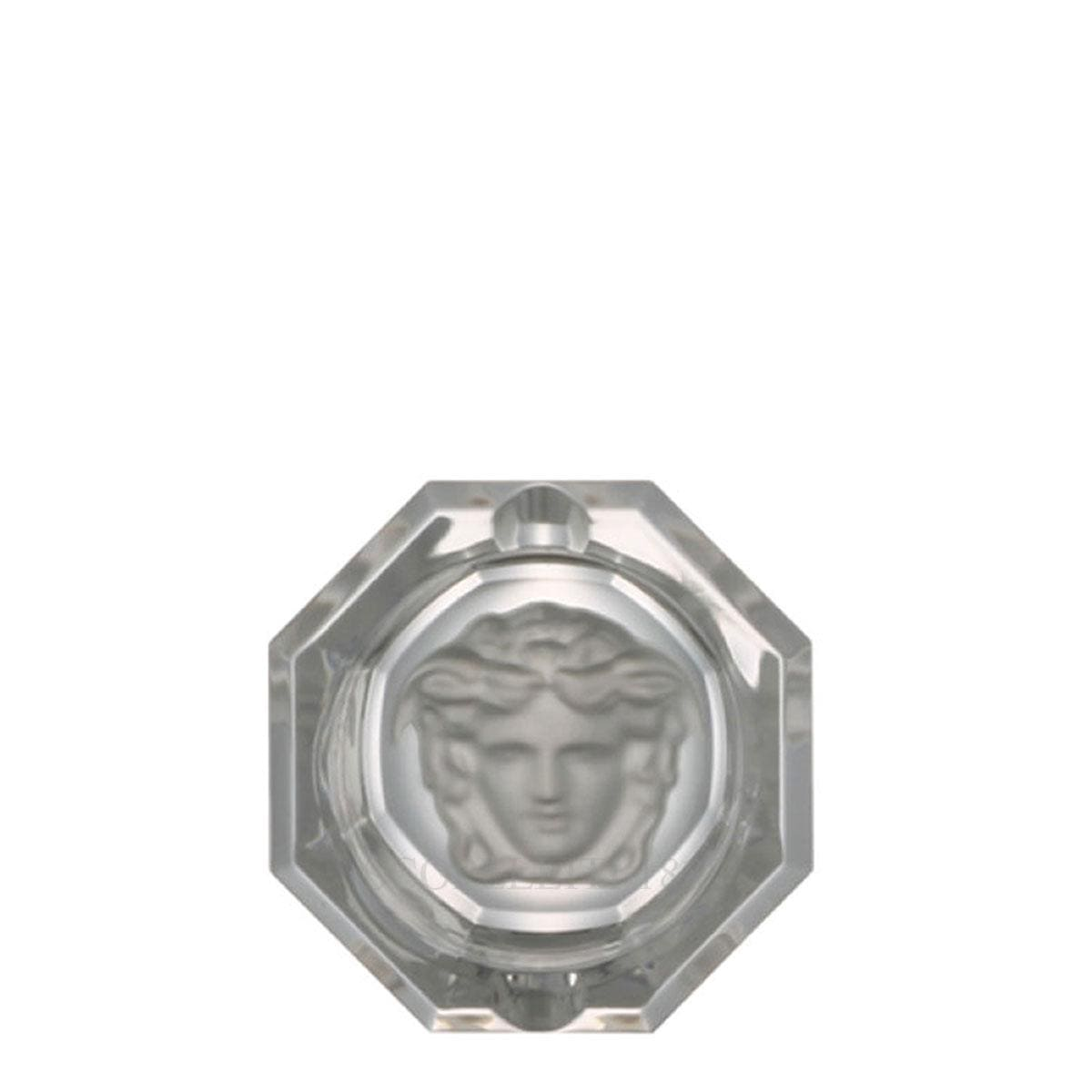 versace italian design medusa lumiere crstal ashtray small