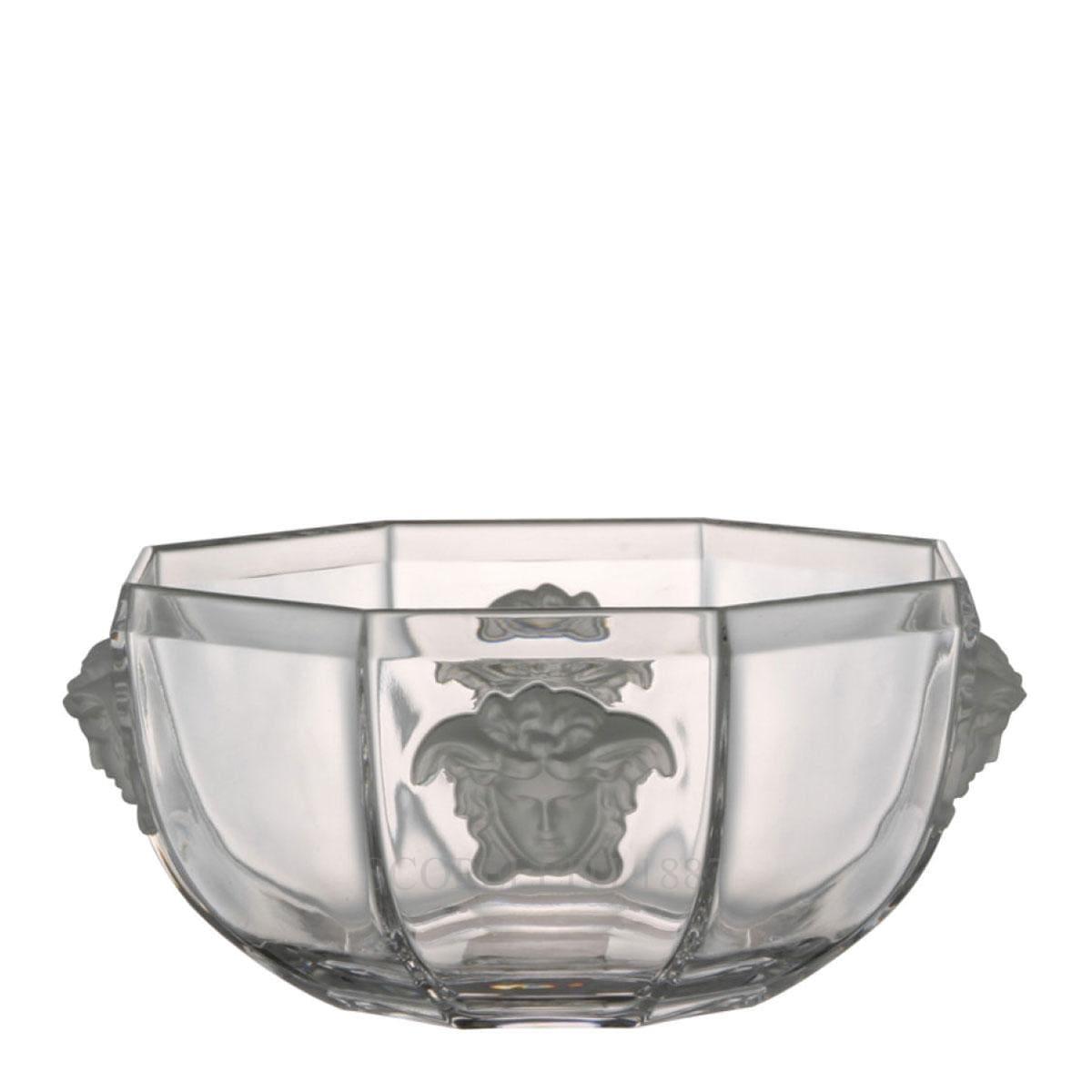 versace italian design medusa lumiere bowl crystal