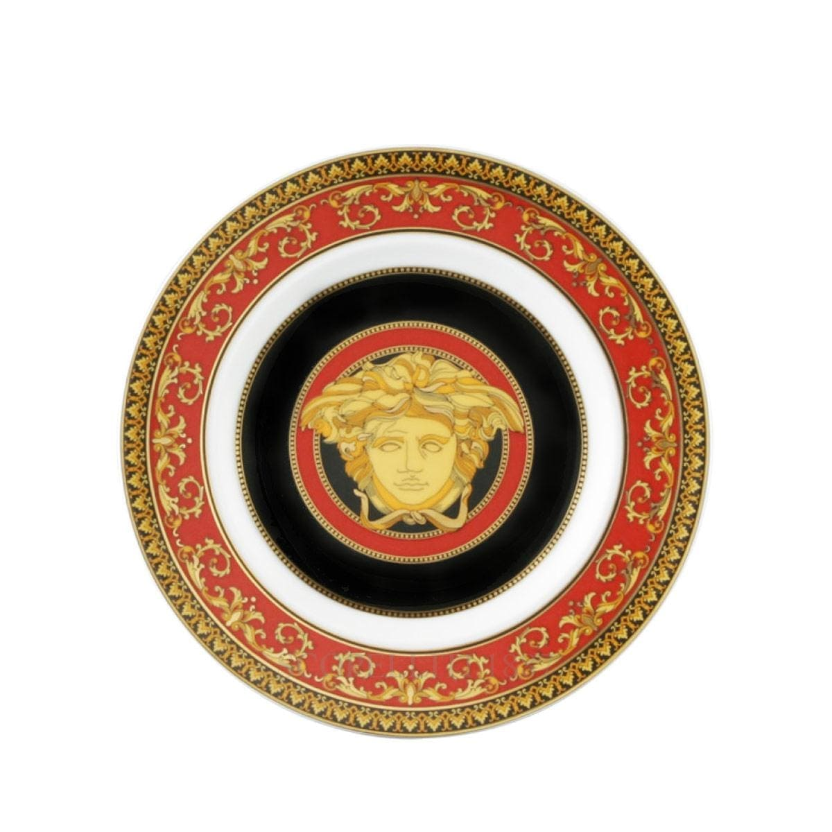 versace medusa small plate golden italian design