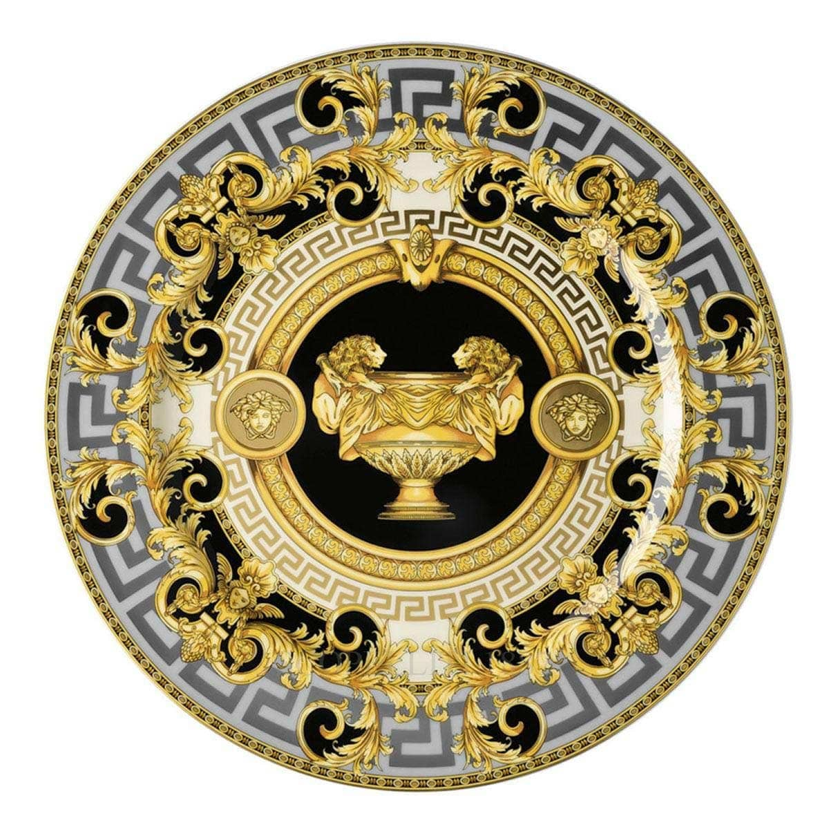 versace italian design prestige gala service plate golden
