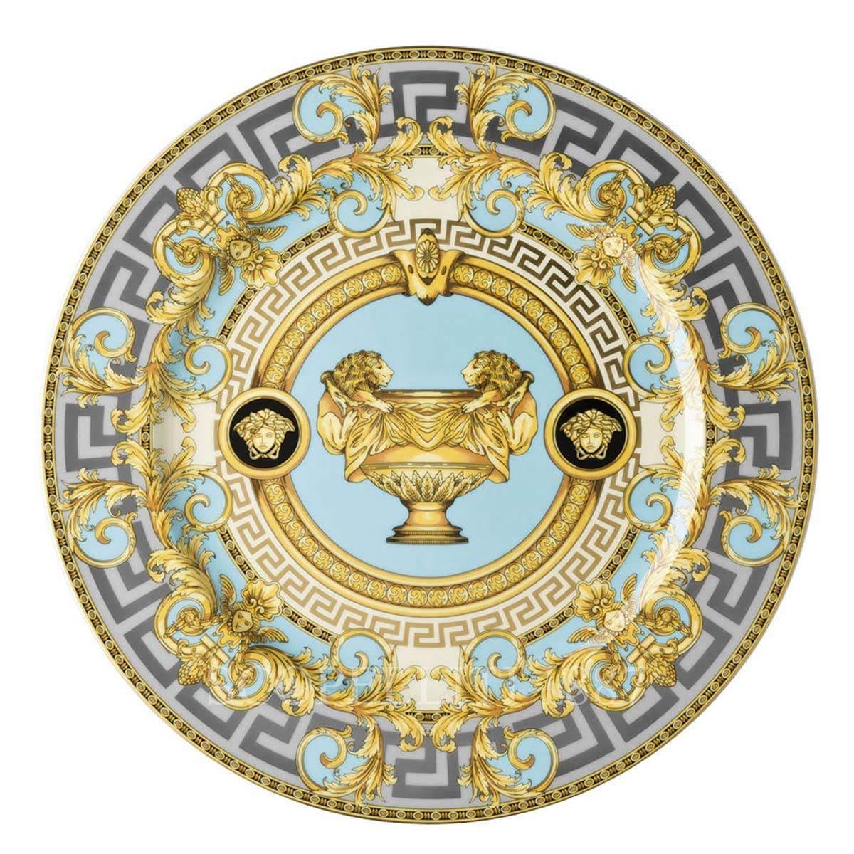 versace italian design prestige gala le bleu service plate golden