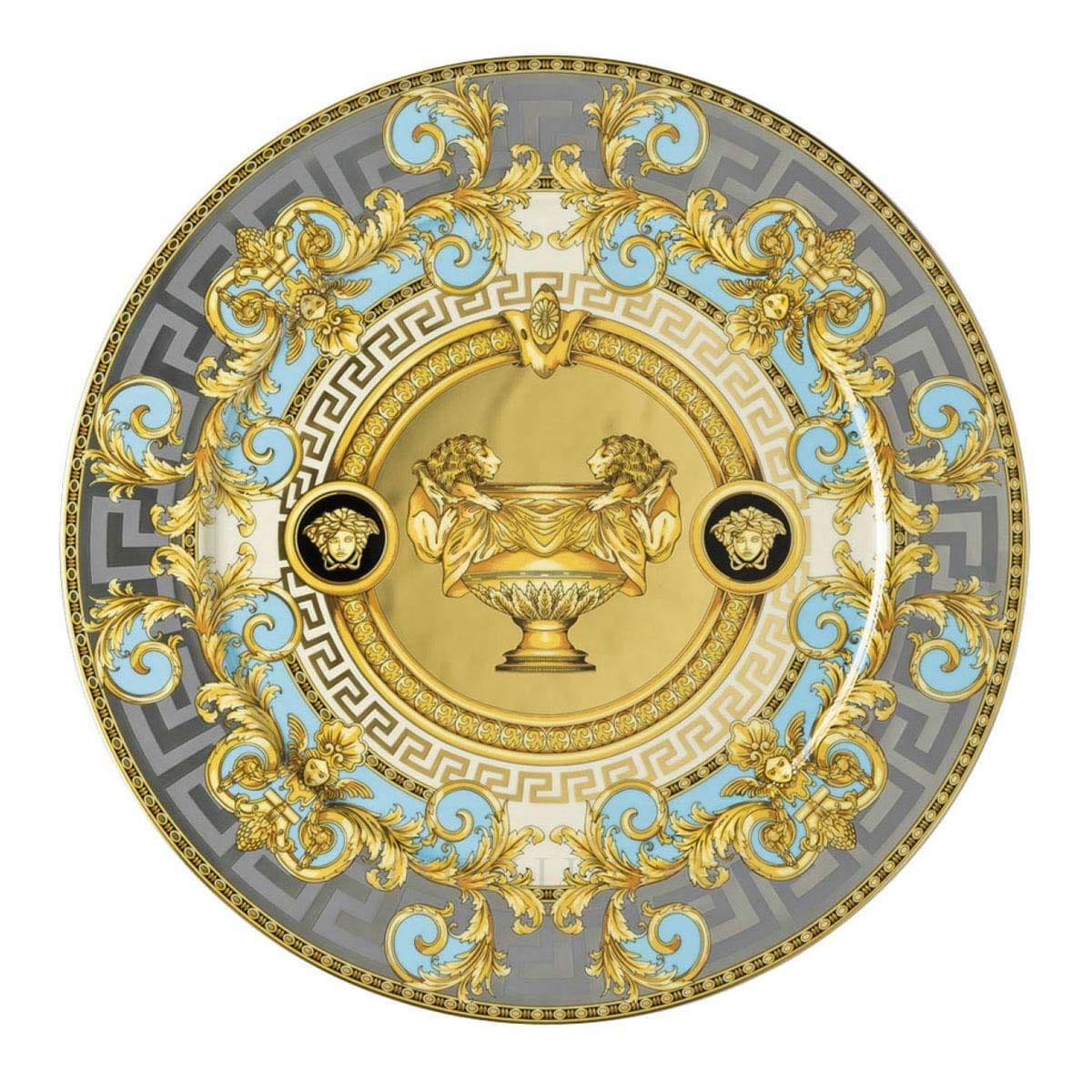 Versace Prestige Gala Le Bleu Service Plate 30 cm by Rosenthal