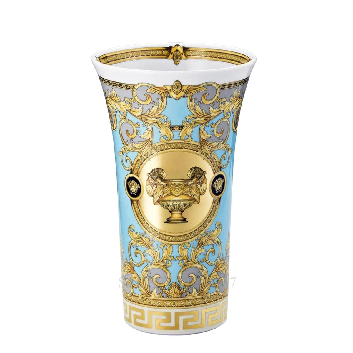 versace italian design prestige gala le bleu vase golden