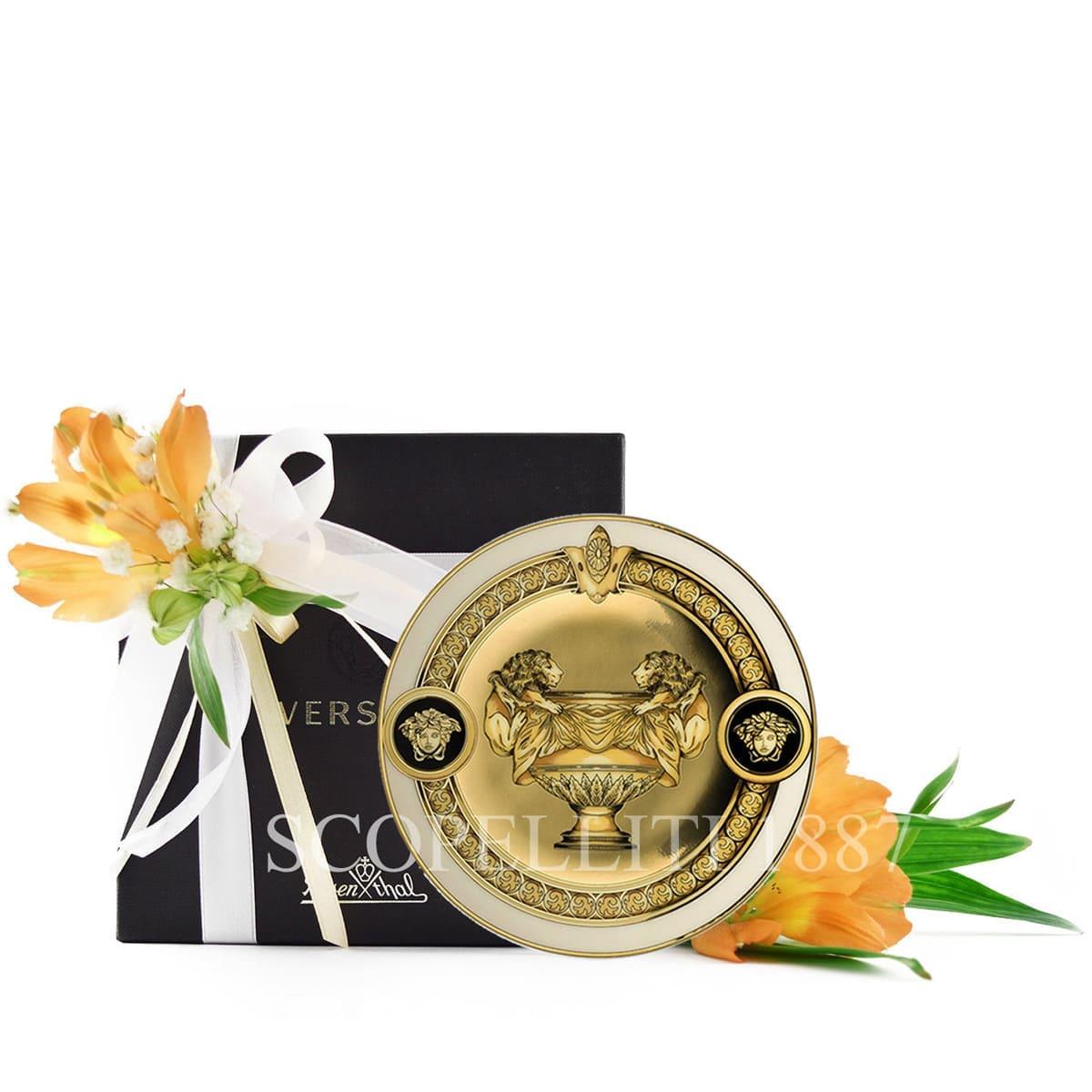 versace italian design prestige gala small plate golden
