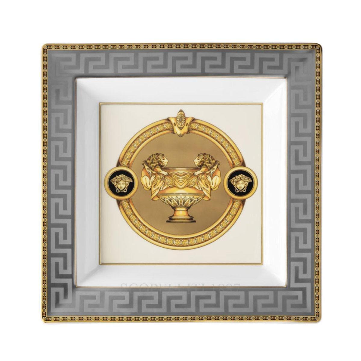 Versace Prestige Gala Square Dish 22 cm by Rosenthal