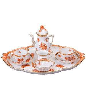 herend porcelain tete a tete orange