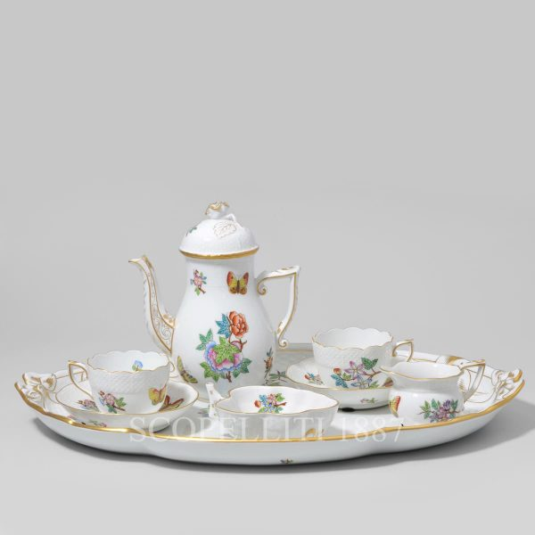 herend coffee set for 2 persons