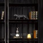 lladro panther figurine black matte