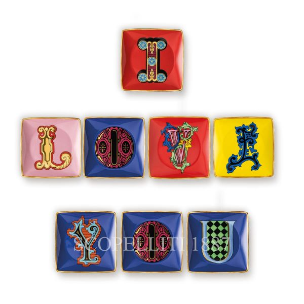 versace alphabet square dish by rosenthal