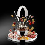 christofle mood party 24 pieces flatware with tray