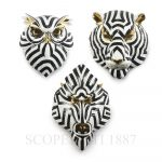 lladro set of three fierce masks porcelain