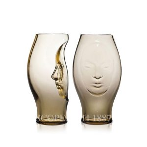 murana face vase straw yellow