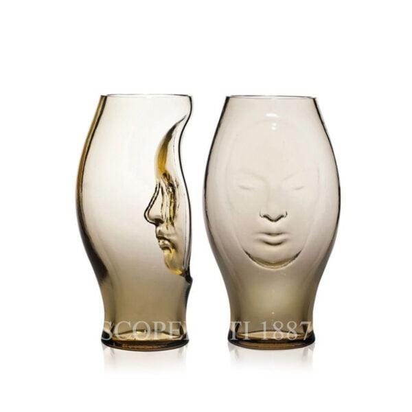 murana face vase straw yellow