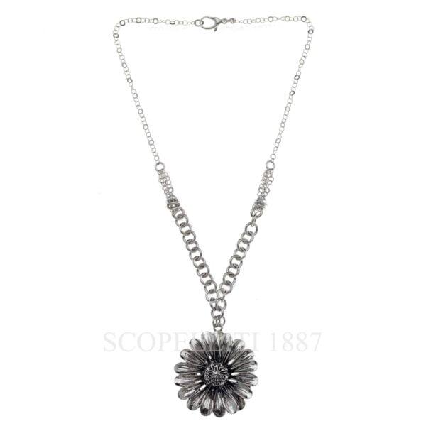 sterling silver marigold flower necklace