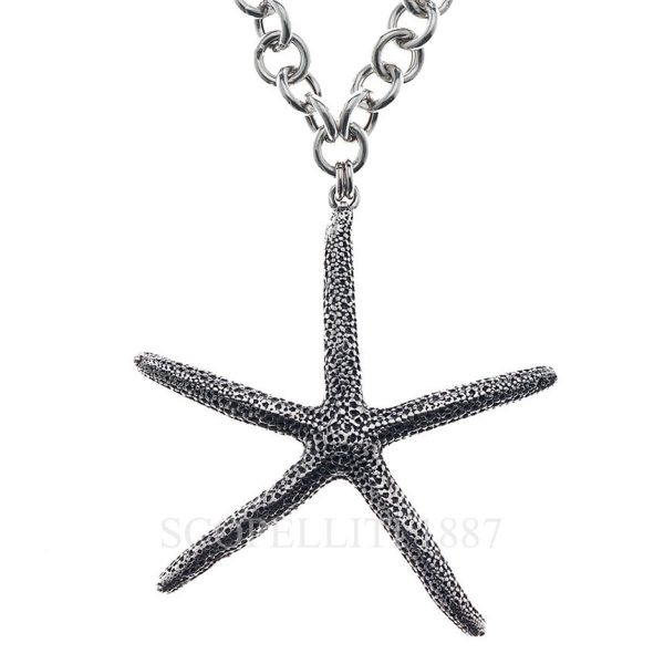 starfish silver sterling necklace