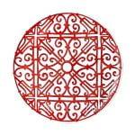 hermes limoges porcelain balcon du guadalquivir round platter large