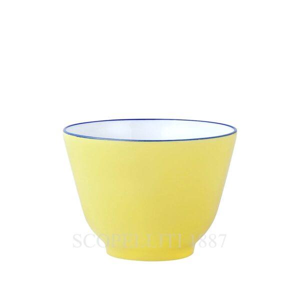 hermes bleus d ailleurs bowl yellow limoges porcelain
