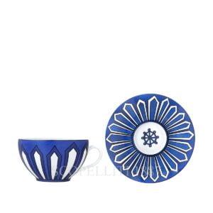 hermes porcelain bleus d ailleurs breakfast cup and saucer