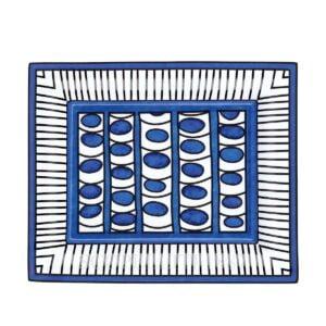 hermes limoges porcelain bleus d ailleurs change tray