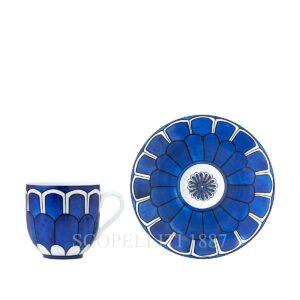 hermes limoges porcelain bleus d ailleurs coffee cup and saucer