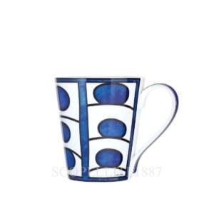 hermes bleus d ailleurs limoges porcelain mug design n1