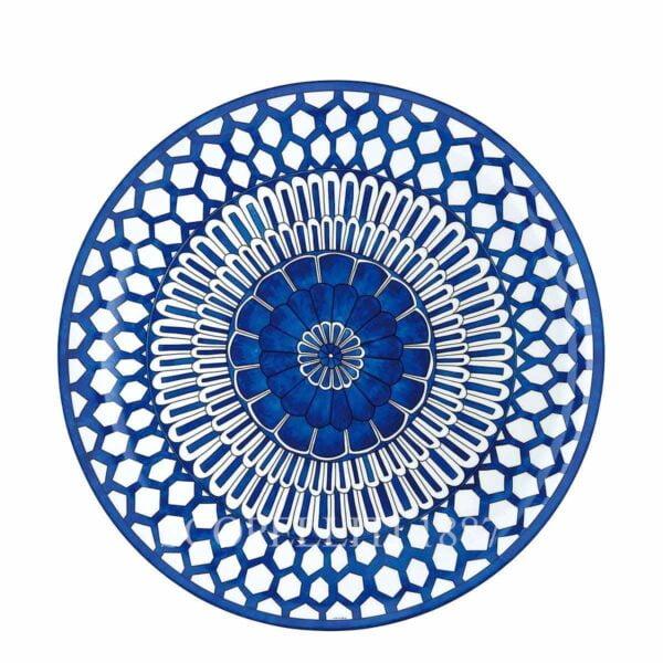 hermes bleus d ailleurs round platter large model limoges porcelain