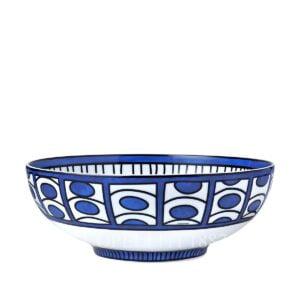 hermes bleus d ailleurs salad bowl porcelain