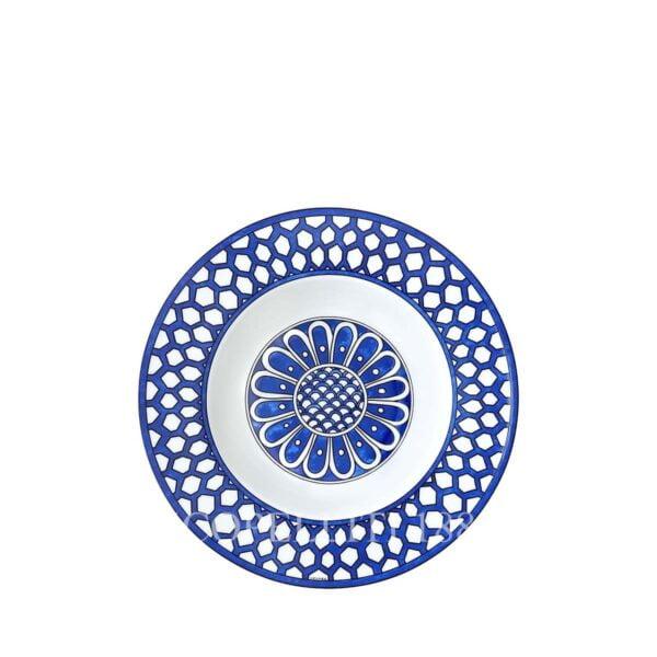 hermes limoges porcelain bleus d ailleurs soup plate