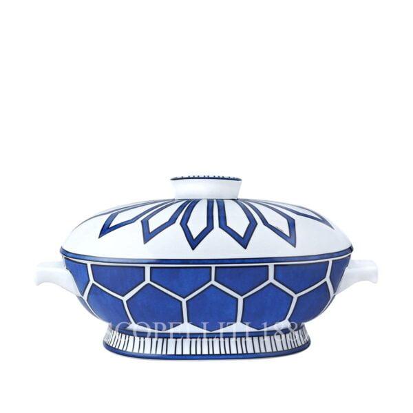 hermes bleus d ailleurs soup tureen porcelain limoges