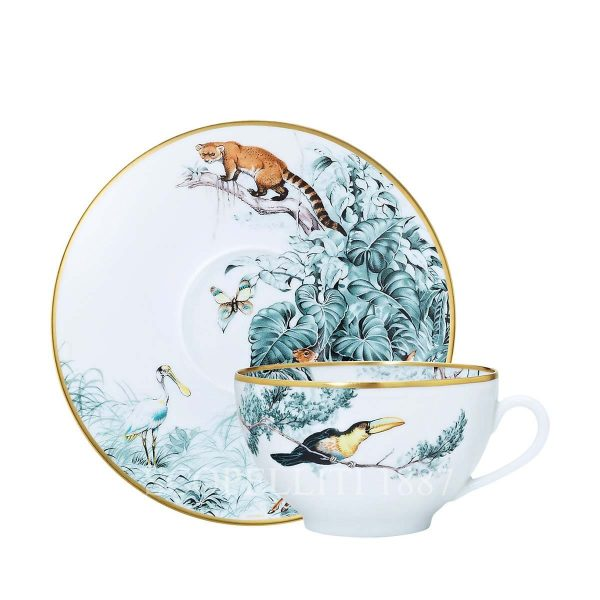 hermes limoges porcelain carnets d equateur breakfast cup and saucer