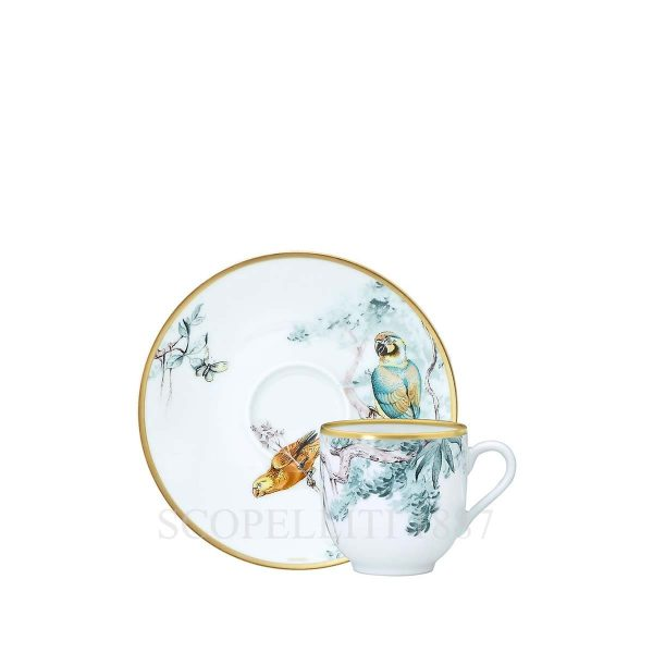 hermes limoges porcelain carnets d equateur coffee cup and saucer