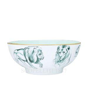 hermes limoges porcelain carnets d equateur salad bowl small