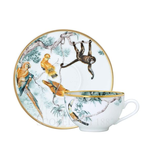 hermes limoges porcelain carnets d equateur tea cup and saucer
