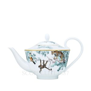 hermes limoges porcelain carnets d equateur teapot six persxons with filter