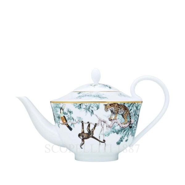 hermes limoges porcelain carnets d equateur teapot six persxons with filter