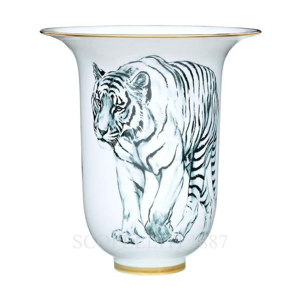hermes limoges porcelain carnets d equateur vase large model