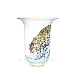 hermes limoges porcelain carnets d equateur vase very large