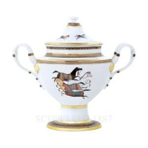 hermes cheval d orient compot porcelain dish
