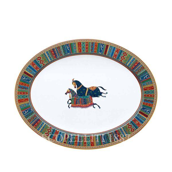 hermes limoges porcelain cheval d orient oval platter large