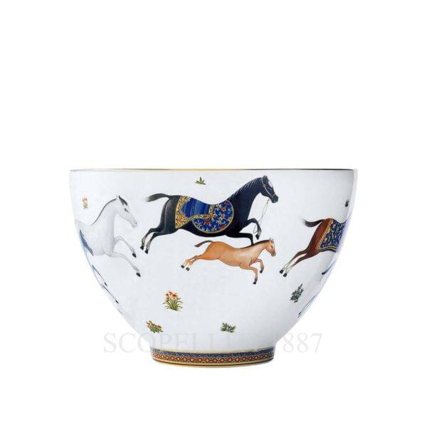 hermes limoges porcelain cheval d orient punch bowl