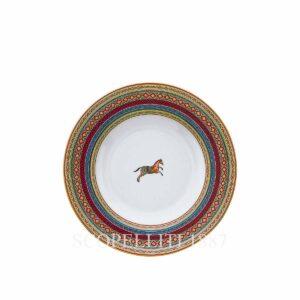 hermes limoges porcelain cheval d orient soup plate