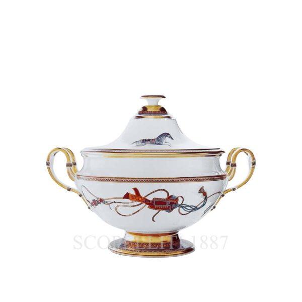 hermes limoges porcelain cheval d orient soup tureen