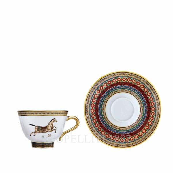 hermes limoges porcelain cheval d orient tea cup and saucer
