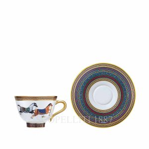hermes limoges porcelain cheval d orient tea cup and saucer