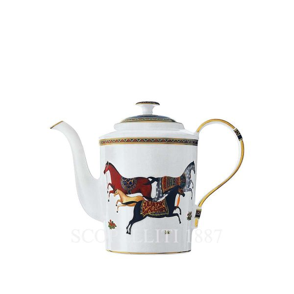hermes limoges porcelain cheval d orient teapot