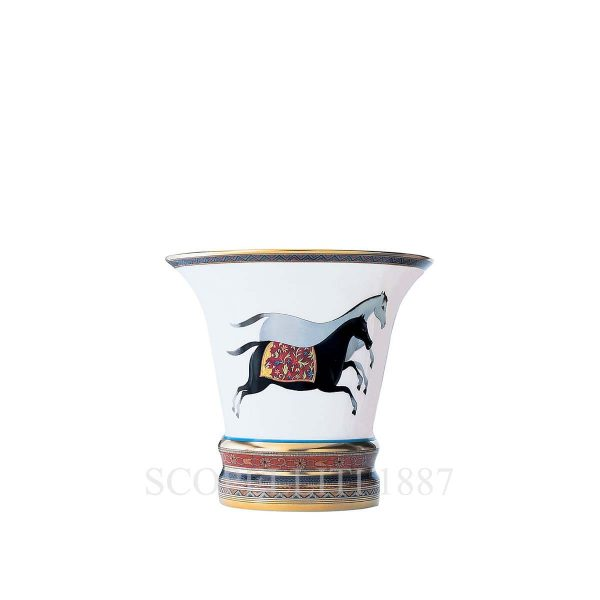 hermes limoges oprcelain cheval d orient vase small