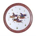hermes limoges porcelain cheval round platter