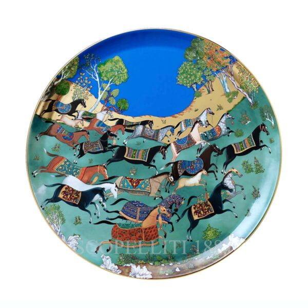 hermes limoges porcelain cheval d orient round platter large model
