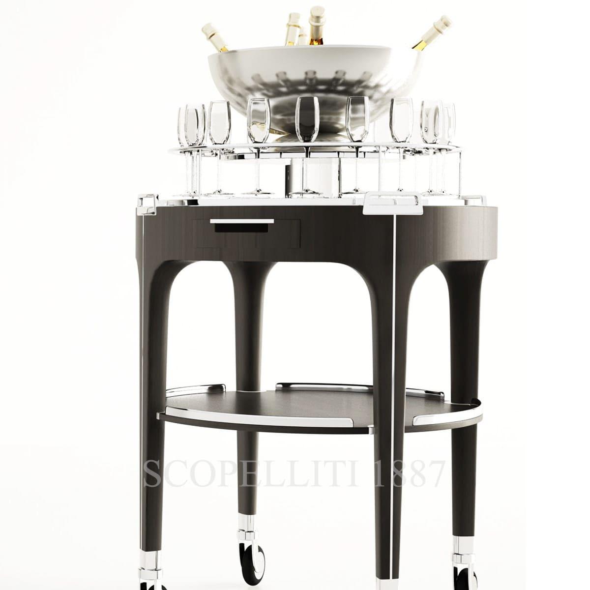 Christofle Champagne Bar Cart Scopelliti 1887