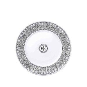 hermes limoges porcelain h deco dessert plate